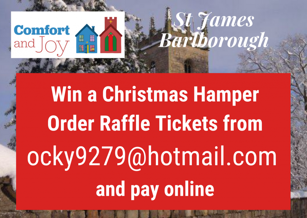 Poster advertising Christmas Hamper Raffle